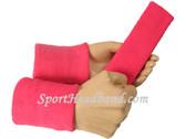 Bright pink sports sweat headband 4inch wristbands set