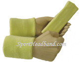 Lemonade yellow sports sweat headband 4inch wristbands set