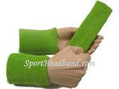 Lime green sports sweat headband 4inch wristbands set
