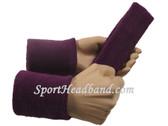 Purple sports sweat headband 4inch wristbands set