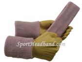 Soft lilac sports sweat headband 4inch wristbands set
