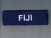 Custom Dark Purple Sport Headband with White Text Sample