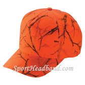 Deer Hunting Orange Camouflage Cap 5Panel Construction