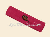 Hot Pink Football Logo Custom Sport Headband