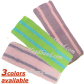 Double Striped Tennis Style 2Color Sport Headband