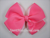 Pink 2Tone Hair Bow with Clip