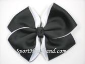 Black 2Tone Hair Bow with Clip