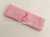 Ribbon and FAITH Symbol Light Pink Sports Headband