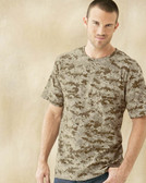 Adult Camouflage 100% Cotton Short Sleeve T-Shirt
