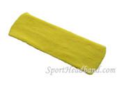 Large bright yellow sports sweat headband pro