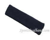 Large navy sports sweat headband pro