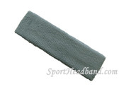 Steel Blue terry sport headband for sweat