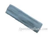 Carolina Blue terry sport headband for sweat