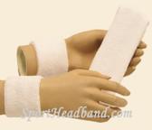 White headband wristband set for sports sweat