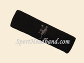 Black custom sport headband sweat terry