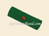 Green custom terry head band sports sweat