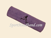 Lavender custom terry headband sports sweat 2