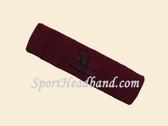 Maroon custom sport sweat headbands terry