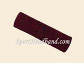 Maroon custom terry headband sports sweat
