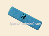 Sky Blue custom sport headband sweat terry