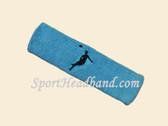 Sky Blue custom headbands sports sweat terry