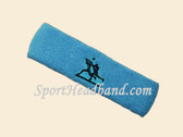 Sky Blue custom sport sweat headbands terry