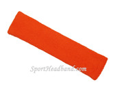 Dark Orange long sport headband terry cloth for sweat
