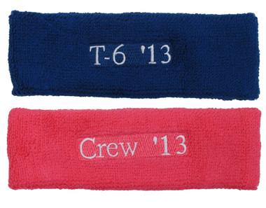 Very Customized / Embroidery (Number, Text, Logo) Plain head sweatbands  DQ78