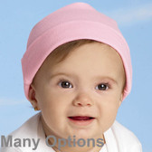 Rabbit Skins  100% cotton Blank  Infant Baby Rib Cap
