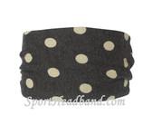 White Polka Dot Polyester Wider Headband Head Wrap(1 Piece)