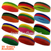 Couver 3 Colors Striped Sport Terry Cloth Head Sweatband(Many Colors)