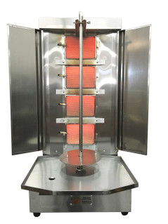 Spinning Grillers® Shawarma Machine - Gyro Machine-Donar Kebab Machine-Tacos Al Pastor Machine - Vertical Rotisserie and Kebab Grill SG3-3