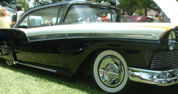 Crossbar Hubcaps on a Sweet 57' Ford Fairlane