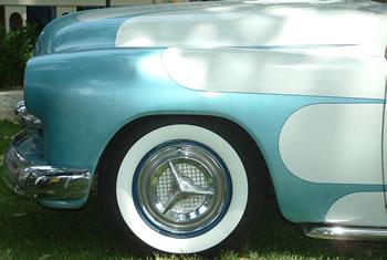 Fiesta Wheel Covers on Custom Car