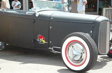 Fiesta Wheel Covers on a 32' Ford Hotrod