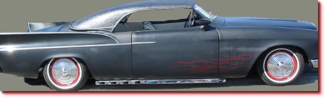 Ripple Disc Hubcaps on a Kustom Car
