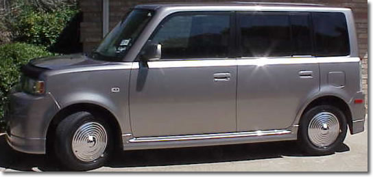 Ripple Discs / Flying Saucer Hubcaps on Scion XB
