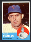 1963 Topps Baseball # 495  Frank Thomas New York Mets EX/MT