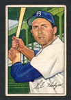 1952 Bowman Baseball # 080  Gil Hodges Brooklyn Dodgers G-1