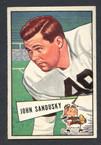 1952 Bowman Small Football # 050  John Sandusky Cleveland Browns EX