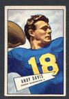1952 Bowman Small Football # 055  Andy Davis Washington Redskins EX