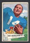 1952 Bowman Small Football # 079  Bob Hoernschemeyer Detroit Lions EX