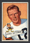 1952 Bowman Small Football # 111  George Ratterman Cleveland Browns EX