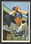 1953 Bowman Color Baseball # 014  Billy Loes Brooklyn Dodgers VG