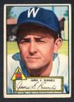 1952 Topps Baseball # 002 James E. Runnels Washington Senators VG