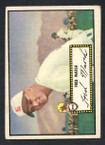 1952 Topps Baseball # 008a Fred Marsh Black Back St. Louis Browns VG