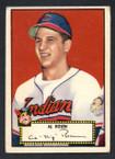 1952 Topps Baseball # 010 Al Rosen Cleveland Indians VG