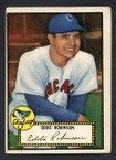 1952 Topps Baseball # 032a Eddie Robinson Black Back Chicago White Sox VG