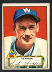 1952 Topps Baseball # 060 Sid Hudson Washington Senators EX-3