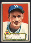 1952 Topps Baseball # 060 Sid Hudson Washington Senators VG